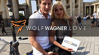 Hot action in the hotel close to a golden extra! wolfwagner.love