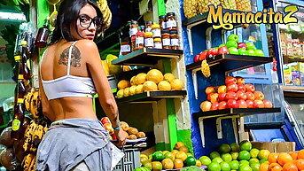 CarneDelMercado - Teen Latina Marly Romero Has Hot Fun With Dad