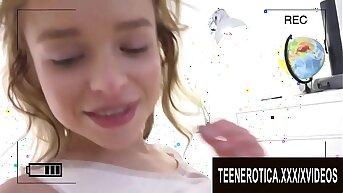 Filming a Sex Tape helter-skelter Playful Blonde Teen Alexa Flaxy