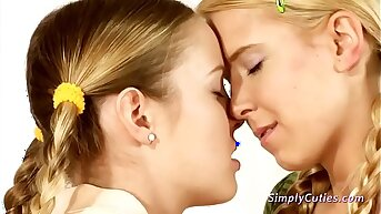 Lesbian Teen Couple in Lovemaking Toys Session