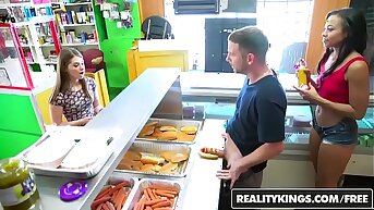 RealityKings - Money Talks - (Adrian Maya) increased by (Alice March) - Hot Dog Stand
