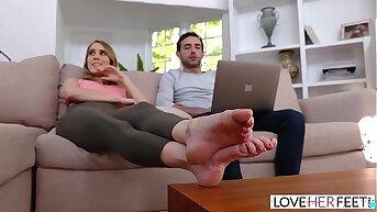 LoveHerFeet - Sucking And Foot Fucking My Super Hot Stepmom