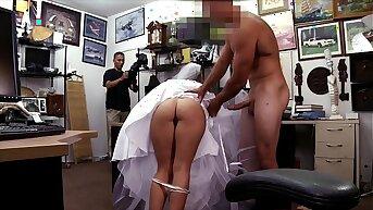 XXX PAWN - Bitter Bride Fucks Pawn Shop Employer After The Groom Cheats