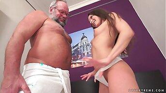 Young Anita Bellini on older dick
