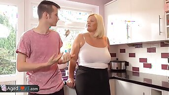 Agedlove mature beamy blowjob and doggystyle