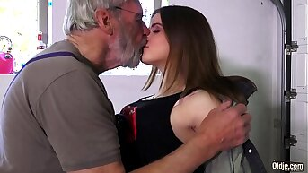 Such an innocent petite young pussy for an old gung-ho hairy grandpa