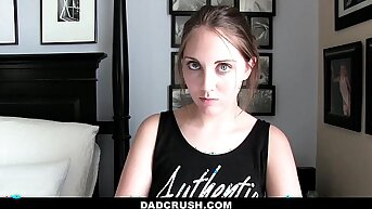 Dad Crush- Caught and Punished StepDaughter (Nickey Huntsman) Be expeditious for Sneaking