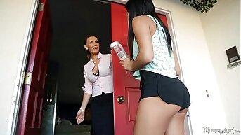 Tanya Tate and Marina Angel at Mommy's Skirt