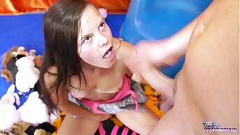 Teenyplayground Cute teen celebrate birthday with doyenne man & fuck first time