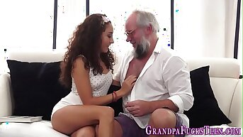 Teen spermed at the end of one's tether old perv